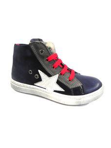 Euro Bimbi Shoes sneakers alta con lacci e zip