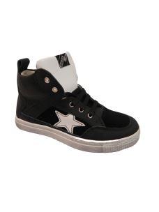 EB Shoes sneakers alta con stella e zip, in pelle