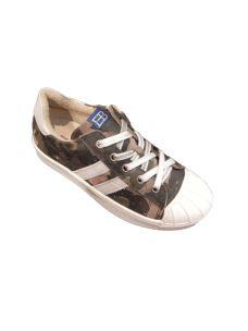 Eb Shoes scarpa in pelle con strisce laterali
