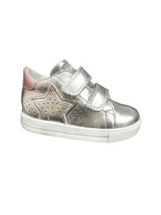Falcotto scarpa primi passi argento con velcro