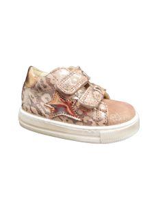 Falcotto scarpa primi passi leopardata rosa con velcro