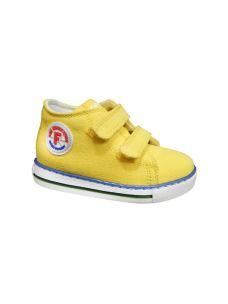 Falcotto scarpa primi passi in tela gialla