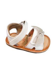 Gioseppo sandalo bimba in pelle con fiocco su velcro