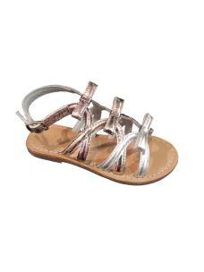 Holalà sandalo con tre fiocchi laminato