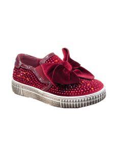 Holalà scarpa bassa slip on con fioccone di velluto