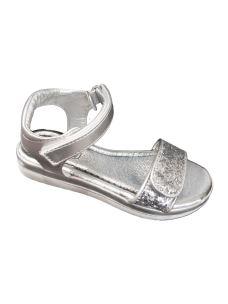 Jolì sandalo con strappo davanti da regolare e glitter argento