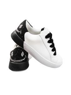 Jolì sneakers bassa con smile di brillantini sul tallone