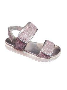 Lelli Kelly sandalo glitter con zeppa bassa in gomma