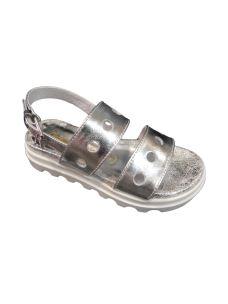 Chiara Luciani sandalo in pelle con fasce bucate