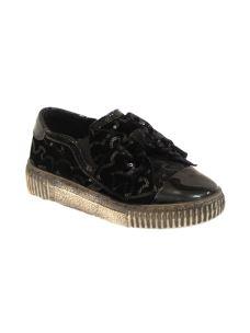 Lulù scarpa slip on con fioccone