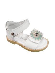 Melania sandalo primi passi bimba con velcro e fiore