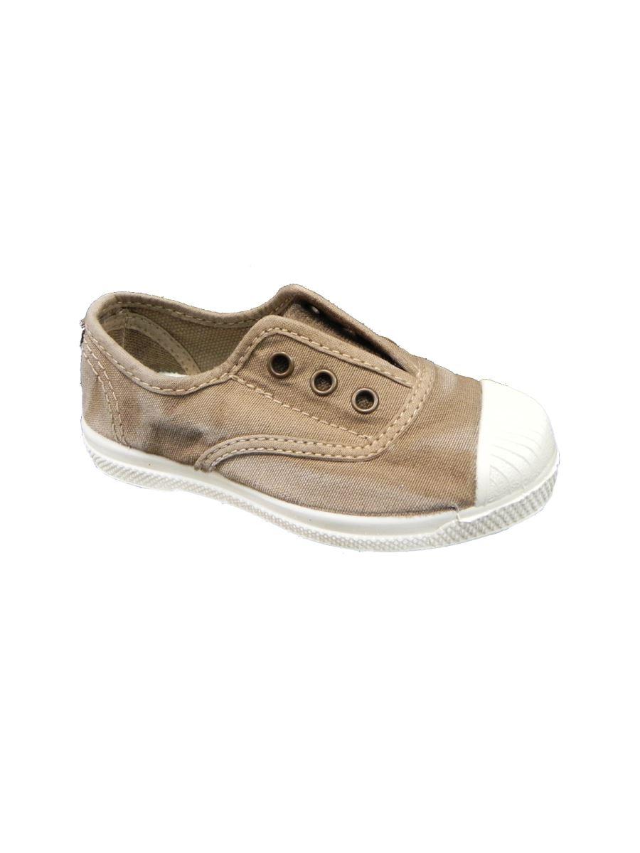 Natural World scarpa in cotone con elastico senza lacci