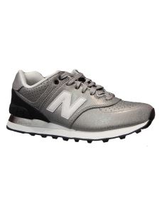 New Balance 574 argento in pelle