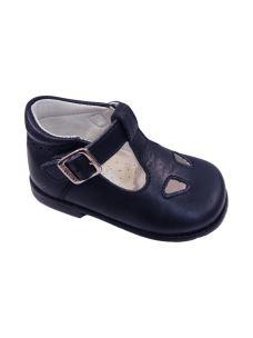 Pablosky sandalo con occhi primi passi in pelle blu