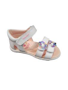 Pablosky sandalo primi passi con velcro e fiori sopra