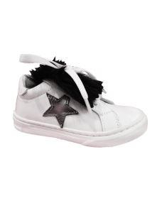 Pretti shoe scarpa in pelle bianca con pelo removibile