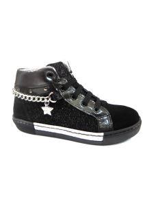 Pretti Shoe sneakers alta in pelle con catena e stella