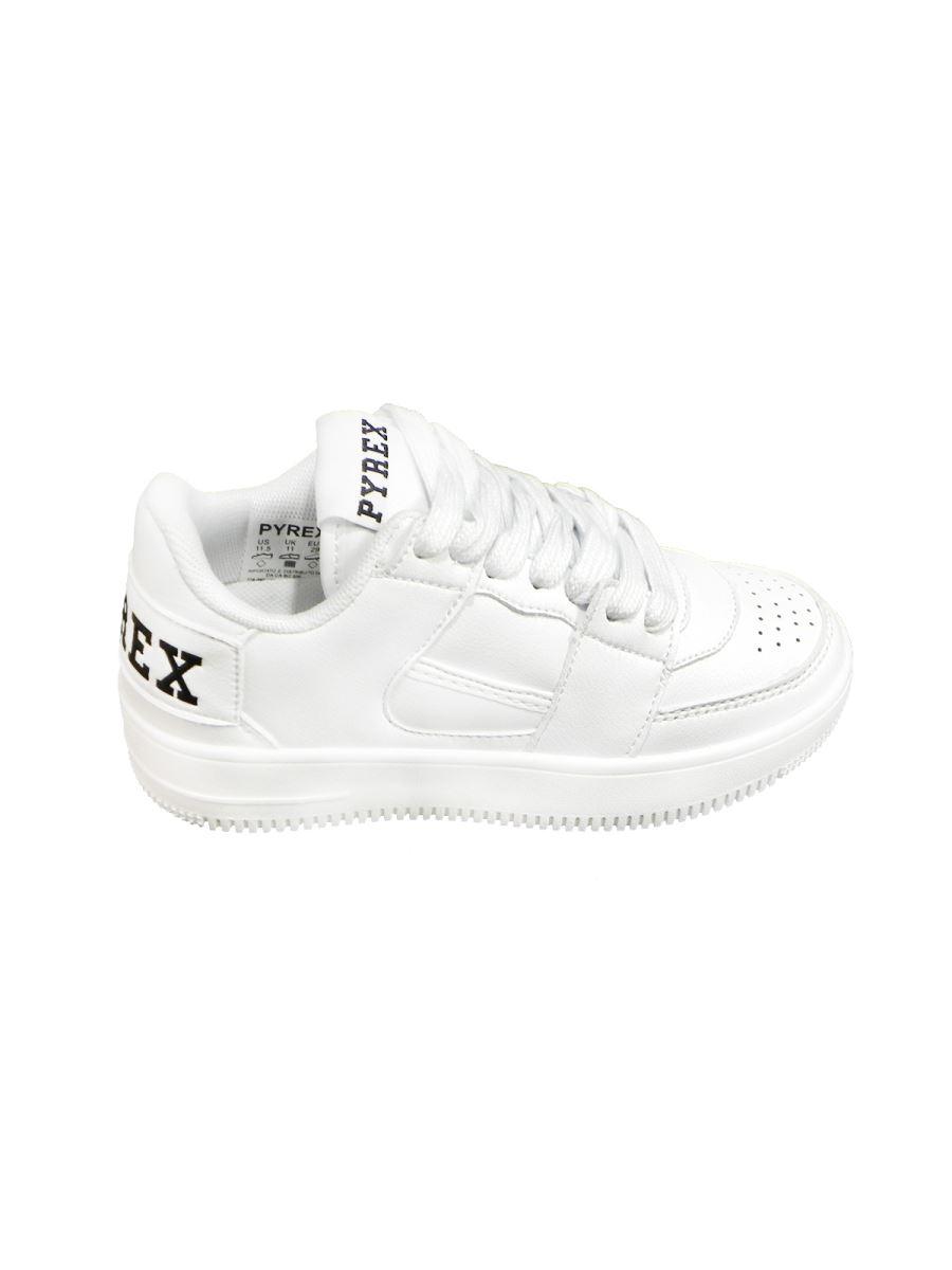 Pyrex scarpa bassa bianca con lacci