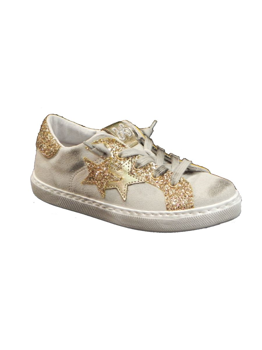 Two Stars sneakers basse in pelle