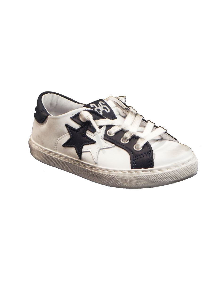 Two Stars sneakers basse in pelle