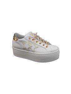 Two Stars sneakers in pelle con platform alto