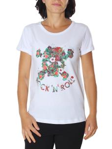 T-Shirt Happiness Donna Splendida Strass