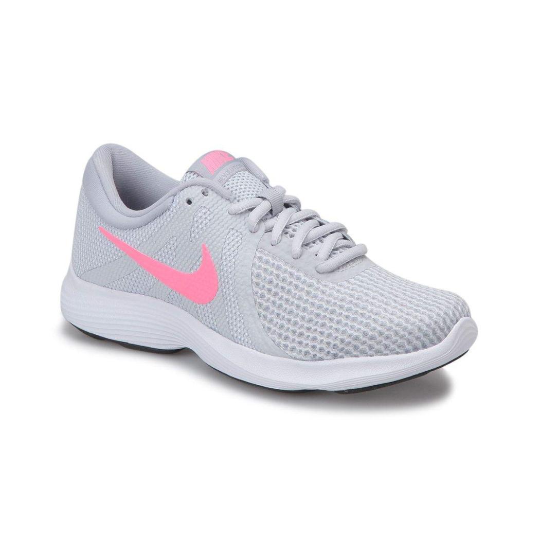 JUNIOR Nike Revolution 3 Lacci Scarpe Da Corsa Donna Rosa Scarpe Da Ginnastica Argento