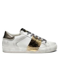 CRIME LONDON LOW TOP DISTRESSED WHITE