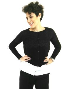 Mimi-muà maglia con bottoni