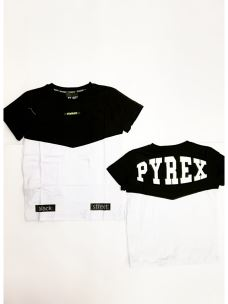 T-shirt jr color block PYREX logo schiena