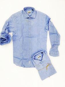 Camicia lino uomo collo alla francesce CLIVER