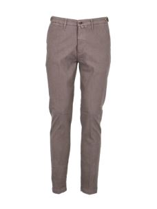 Pantalone microfantasia misto lino