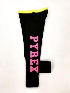 Leggings girl profilo e logo PYREX fluo