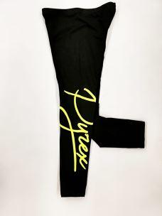Leggings girl logo PYREX verticale stilizzato fluo