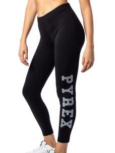 Leggings donna logo PYREX glitterato