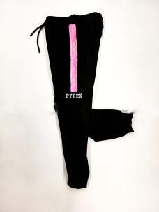 Pantalone donna banda e logo PYREX glitter