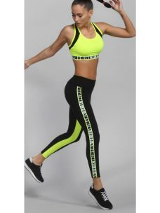 Leggings bicolore con banda DEHA