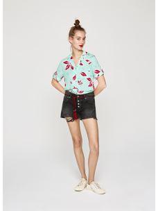 Short donna corto strappato jeans BONITA BLACK PEPE JEANS