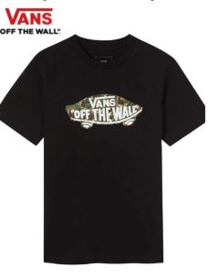 T-Shirt JR logo camu VANS