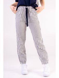 Pantalone gessato misto lino DEHA