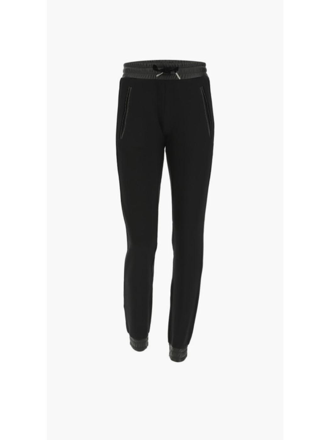 Pantalone diritto con profili in ecopelle FREDDY