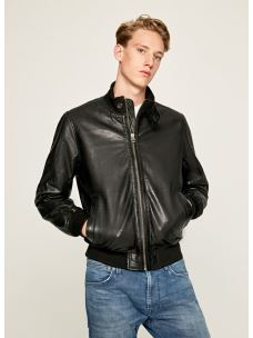 Giacca pelle bomber uomo PEPE JEANS