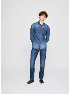 Camicia uomo jeans lavaggio medio PEPE JEANS