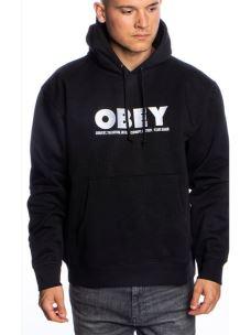 Felpa cappuccio logo OBEY ricamato