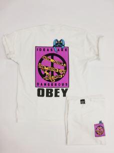 T-shirt IDEAS ARE DANGEROUS HEAVYWIGHT OBEY