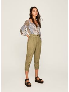 Pantalone 7/8 donna cotone/lino PEPE JEANS