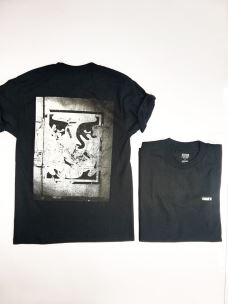 T-shirt girocollo stampa schiena OBEY LGHT IN THE TUNNEL