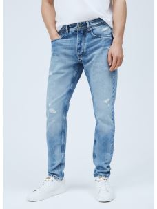 CALLEN CROP jeans strappato PEPE JEANS