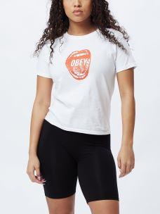 T-shirt donna OBEY SCREAMIN' LIPS BASIC TEE