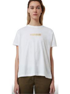 T-shirt girocollo NAPAPIJRI logo oro